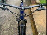 "Mongoose mountain bike, 24 x gears, Large Frame, suspension 26"" wheels"