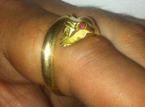 Snake 18 carat Gold ring Melbourne CBD Melbourne City Preview
