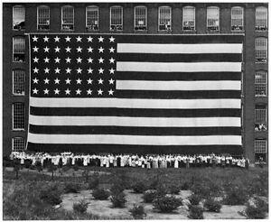 Decor B W American Flag Poster Fine Graphic Design Home