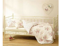 Gorgeous next beige/cream standard uk single day bed