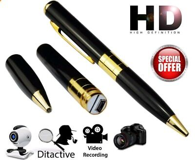 Spy Pen Secret Camera 32GB High Capacity Mini HD Video Recorder CCTV USB DVR /UK