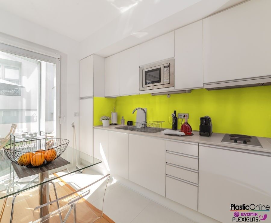 Lemon Yellow Plastic Perspex Acrylic Kitchen Bathroom