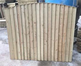 🐝Bow Top Fence Panels / Vertical Board / Pressure Treated