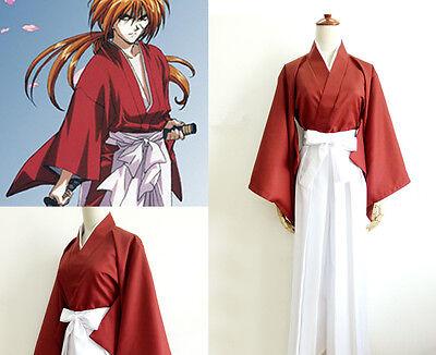 Rurouni Kenshin HIMURA KENSHIN Cosplay Costume Kostüm manga cartoon Anime Kimono (Kenshin Himura Cosplay Kostüm)