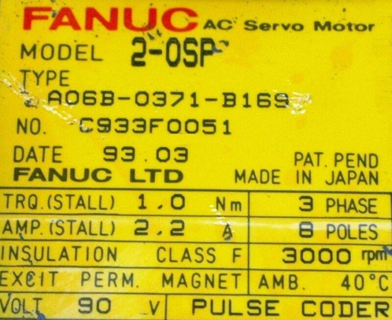 Fanuc Motors-ac Servo A06b-0371-b169 [pz4]