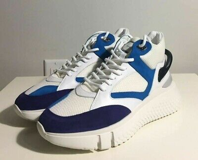 Brand-new Men's Buscemi Veloce White/Blue High-top Sneakers in US 11/Euro 44