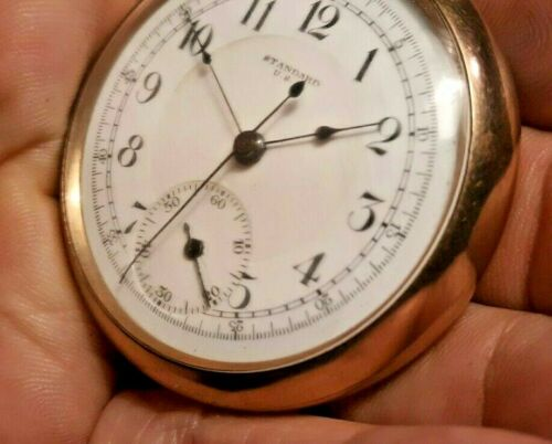 Chronograph HORSE TIMER 16 Size New York Standard Watch Co. Pocket Watch Working