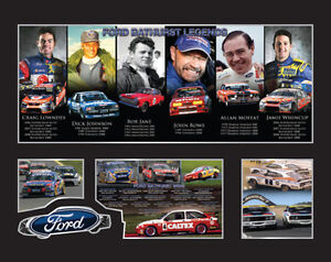FORD-BATHURST-LEGENDS-CAR-RACING-MEMORABILIA-FRAME-LIMITED-EDITION-w-C-O-A