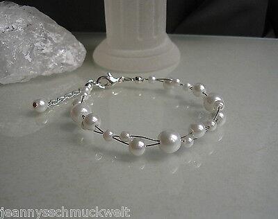 en in weiss*Hochzeit* (Armbänder Mit Perlen)
