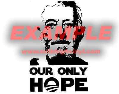 Obi Wan Kenobi Our Only Hope Star Wars Obama Vinyl Decal Sticker Funny