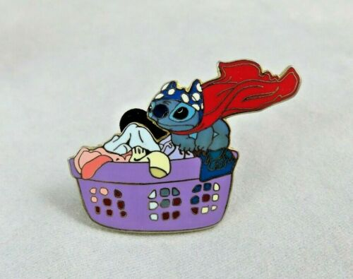 Walt Disney World Disneyland Pin - Stitch in Laundry Basket - Hero