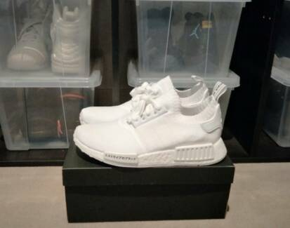 Adidas NMD R1 PK Triple White Japan US8.5 + Receipt New Yeezy