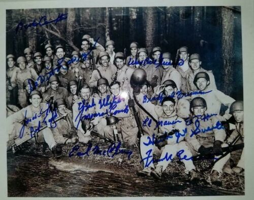 Band Of Brothers 101 AB 506 PIR E Co Autographed Photo w/13 Autos ALL DECEASED!!