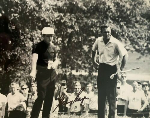 Gary Player signed autographed 8x10 photo Arnold Palmer