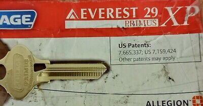 Schlage Everest 29 Primus Xp T145 Key Blank Lvl 9 35-199-xp-ev Comp- 35-268-ev
