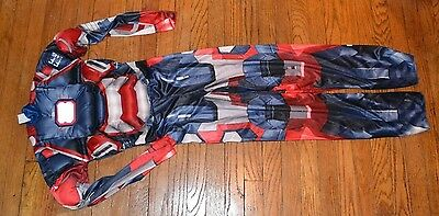 Iron Man Boys Muscle Halloween Costume Size 10/12  Jumpsuit only MARVEL