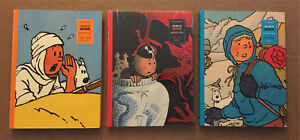 Lot of 3 Tintin books, the art of Herge Volume 1-3 in english