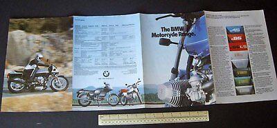 Catalogue Vintage 1985 BMW Motorcycles Full UK Range K100RS K100RT K75C K75S etc