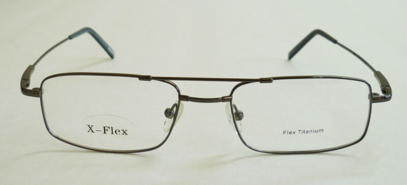 X-Flex Rectangle Flex Titanium Frame 53-19-140 3 Colors, Retail $140 lQQl n $ave