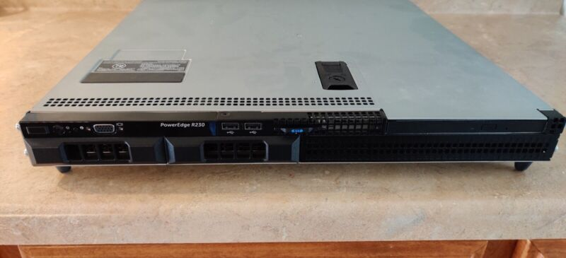 Dell Poweredge R230 1U Server Xeon Quad Core 16GB RAM 2x2 TB Hard Drives