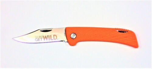 BSA Boy Scout Knife 2013 Jamboree Lockback Rubber Grip Orange CHN 614419