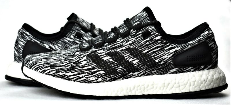 15dfcedbbeba2 NEW ADIDAS PUREBOOST OREO BLACK WHITE MEN S BOOST RUNNING SHOES PURE BOOST