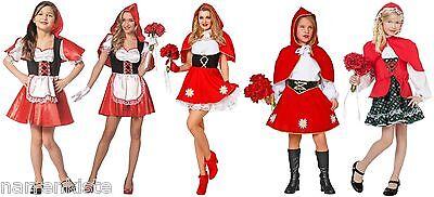 Rotkäpchen Mädchen Kinder Damen Rotkäppchen Kostüm Kleid Märchen Umhang Karneval ()