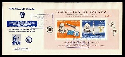 DR WHO 1966 PANAMA FDC CHURCHILL NATO SPACE S/S g21806