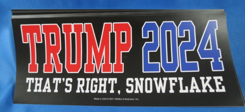 WHOLESALE LOT OF 20 TRUMP 2024 STICKERS THATS RIGHT SNOWFLAKE Anti Liberal Biden