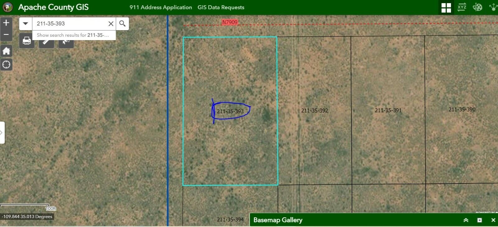 Home Site Apache County 2 Acres. Close To Luna Land Ranch. No Reserve.  - $202.50