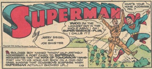 RARE  VINTAGE SUPERMAN SUNDAY PAGE #199 From 1943 - GREAT IMAGES