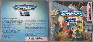 MICRO-MACHINES-V3-cd-rom-games-LA-GAZZETTA-DELLO-SPORT-GRANDI-GIOCHI-PER-PC