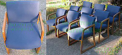 Used, HON Guest Chair Oak / Blue Waiting Room Chair Conference Office ☆ 8 Available for sale  Beaverton