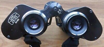 CASED CARL ZEISS 15X60 BINOCULARS S/N 931968 WITH HEAVY NECK STRAP