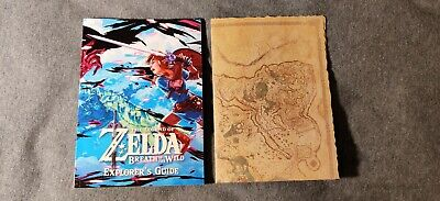 Legend of Zelda Breath of the Wild Explorer's Guide & Map Of Hyrule ONLY