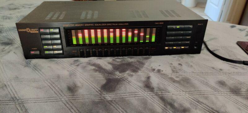 Computer Graphic Equalizer Spectrum Analyzer SoundCraft Conrad CMA-8000 220V