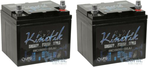 2) Kinetik BLU Series 1200W 12V High Current AGM Car Audio Power Cell Battery
