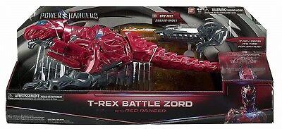 Groß Power Rangers Kampf T-Rex Zord Megazord Actionfigur Dinosaurier Brennen Neu ()