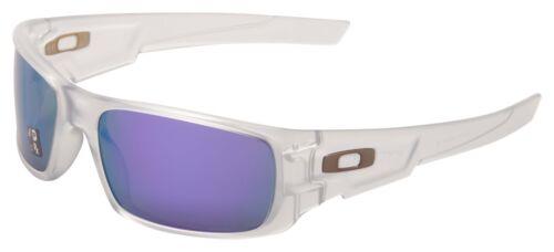 Oakley Crankshaft Sunglasses OO9239-09 Matte Clear | Violet Iridium Polarized