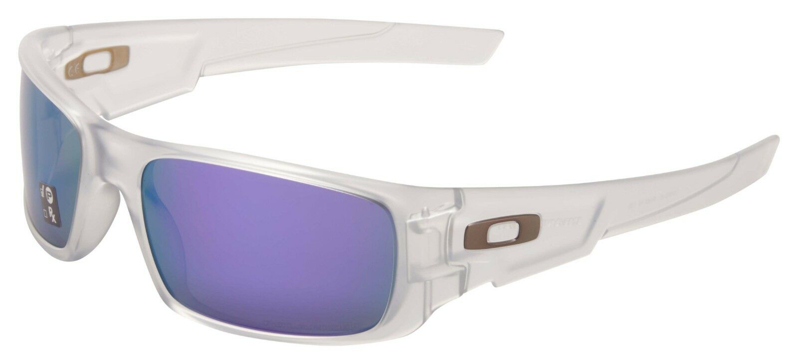 Oakley Crankshaft Sunglasses OO9239-09 Matte Clear | Violet Iridium Polarized