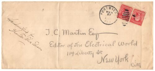 Mailing Envelope Hand-Addressed by Thomas Edison - w/ Early 20th Century COA