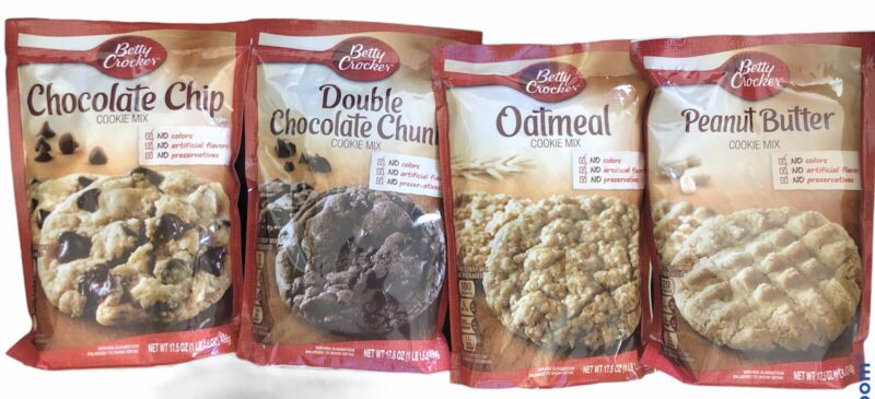Betty Crocker Cookie Mix Variety Chocolate Chip Oatmeal Peanut Butter Choc Chunk