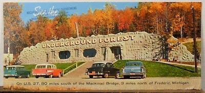 1950's Underground Forest Frederic Michigan vintage travel brochure b