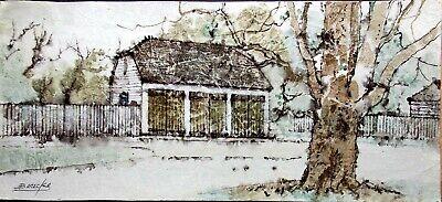 William Benecke - Three Stall Barn - Original - Oil on Canvas