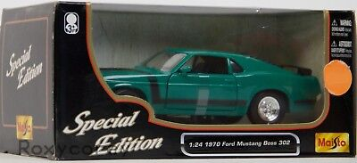 Maisto Special Edition 1970 Ford Green Mustang Boss 302 1:24 Scale Die Cast (302 Green Car)