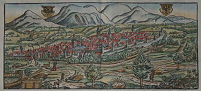 Landau in der Pfalz - Originale Ansicht von Sebastian Münster - um 1580