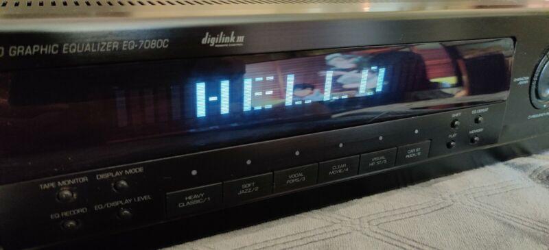 SHERWOOD EQ-7080C Stereo Equalizer Spectrum Analyzer 220V