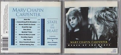 Mary Chapin Carpenter - State of the Heart  (CD, May-1989, Columbia