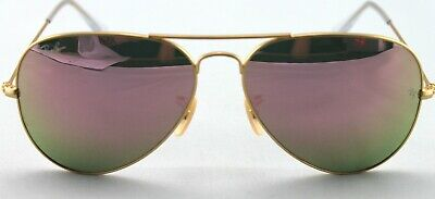 New Ray Ban 3025 019/Z2 (58mm) gold metal frame rose mirrored (Rose Ray Ban Aviators)