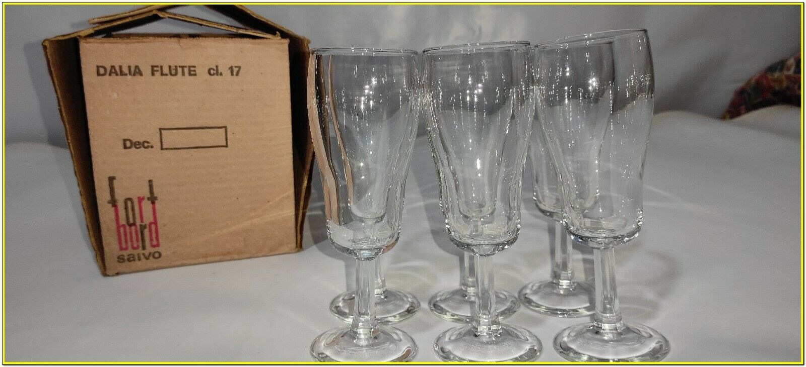 Bicchieri Cristallo Calici Flute Flut Da Champagne Spumante 17 cl